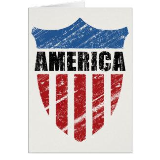 Escudo de América Tarjeta De Felicitación
