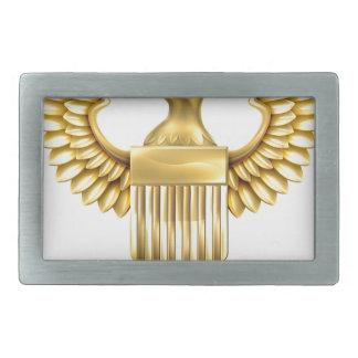 Escudo de American Eagle del oro Hebilla Cinturón Rectangular