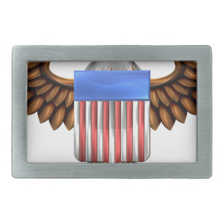 Escudo de American Eagle Hebilla De Cinturon Rectangular