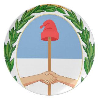 Escudo de Argentina - Coat of arms of Argentina Melamine Plate