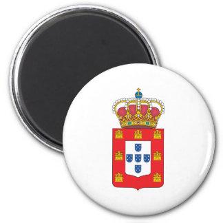 Escudo de armas 1830 de Portugal Imán Redondo 5 Cm