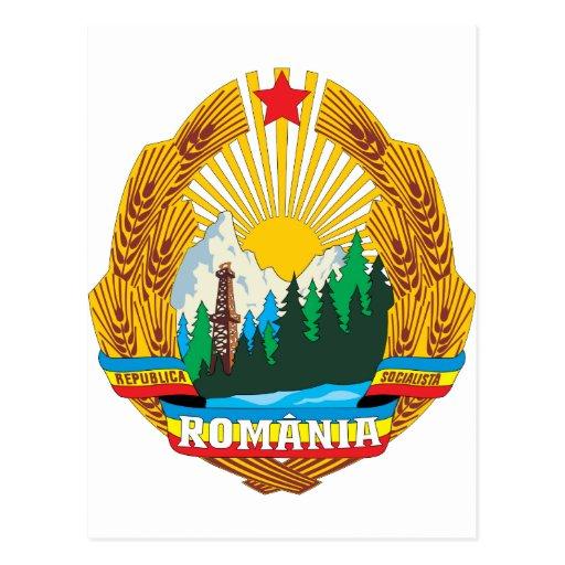 Escudo de armas 1965 de Rumania Postal