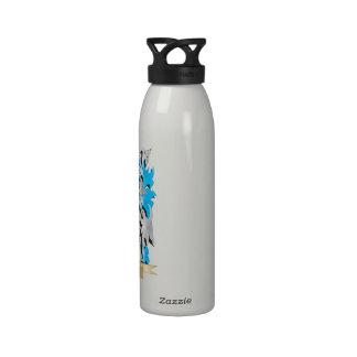 Escudo de armas actual - escudo de la familia botella de agua reutilizable