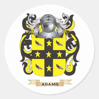 Escudo de armas Adams-2 (escudo de la familia) Pegatina Redonda