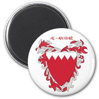 """Escudo de armas """"AL-AHMAR """" de Bahrein Imán Redondo 5 Cm"""