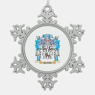 Escudo de armas alegre adorno de peltre en forma de copo de nieve