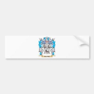 Escudo de armas alegre etiqueta de parachoque