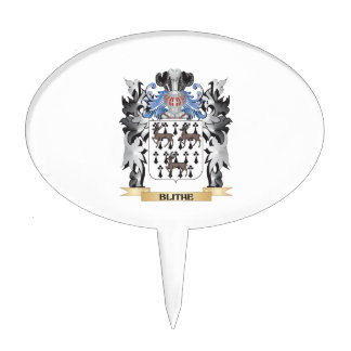 Escudo de armas alegre - escudo de la familia palillos de tarta
