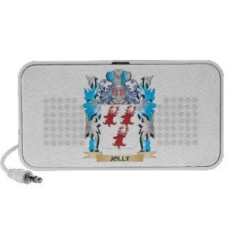 Escudo de armas alegre - escudo de la familia iPod altavoz