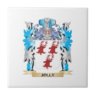 Escudo de armas alegre - escudo de la familia teja
