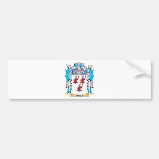 Escudo de armas alegre - escudo de la familia pegatina de parachoque