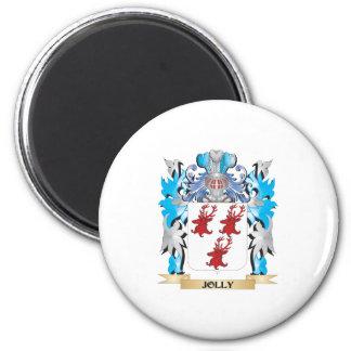 Escudo de armas alegre - escudo de la familia imán de frigorifico