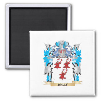 Escudo de armas alegre - escudo de la familia imán de frigorífico