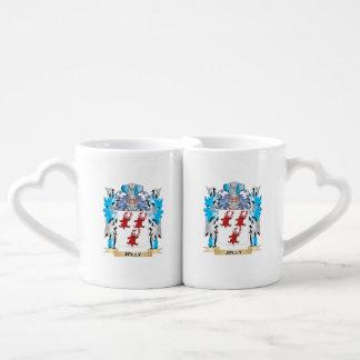 Escudo de armas alegre - escudo de la familia taza para enamorados