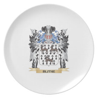 Escudo de armas alegre - escudo de la familia plato