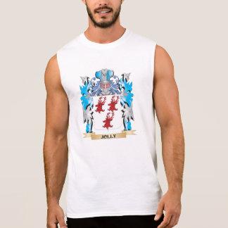 Escudo de armas alegre - escudo de la familia camisetas sin mangas