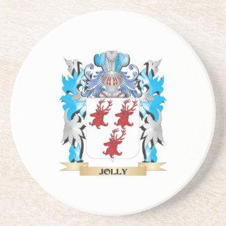 Escudo de armas alegre - escudo de la familia posavaso para bebida