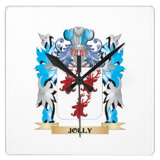 Escudo de armas alegre - escudo de la familia reloj