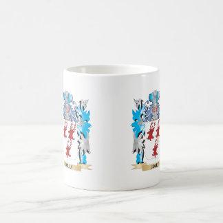 Escudo de armas alegre - escudo de la familia tazas de café