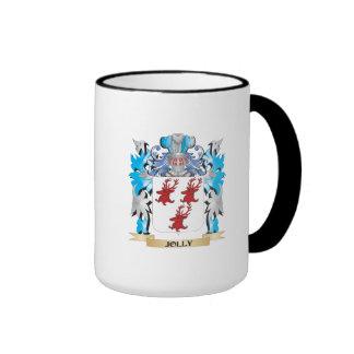 Escudo de armas alegre - escudo de la familia taza