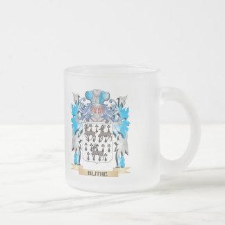 Escudo de armas alegre tazas de café
