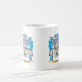 Escudo de armas alegre taza de café