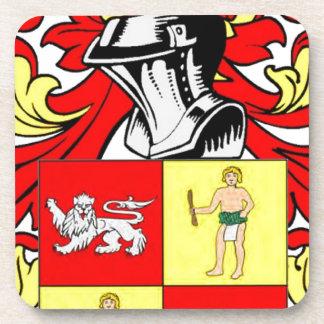 Escudo de armas alemán de Mann Posavasos De Bebidas