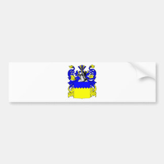 Escudo de armas (alemán) del mayordomo pegatina de parachoque