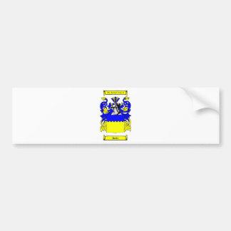 Escudo de armas (alemán) del mayordomo etiqueta de parachoque