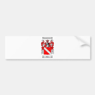 Escudo de armas (alemán) del panadero etiqueta de parachoque
