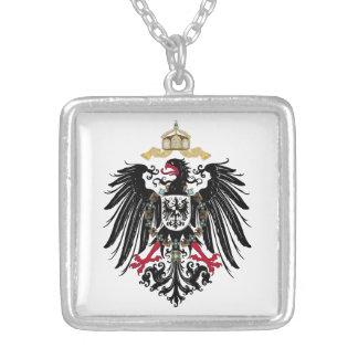 Escudo de armas Alemán imperio de 1889 águilas de Collar Plateado