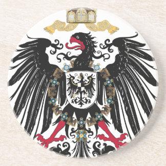 Escudo de armas Alemán imperio de 1889 águilas de Posavasos Personalizados
