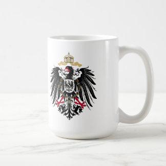 Escudo de armas Alemán imperio de 1889 águilas de  Taza