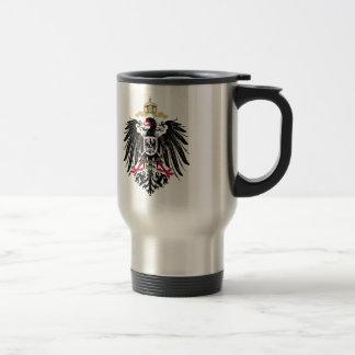 Escudo de armas Alemán imperio de 1889 águilas de  Taza De Viaje De Acero Inoxidable