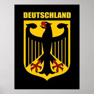 Escudo de armas alemán póster