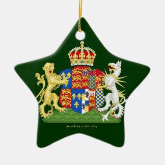 Escudo de armas Ana Bolena Adorno Navideño De Cerámica En Forma De Estrella