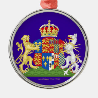 Escudo de armas Ana Bolena Adorno Navideño Redondo De Metal