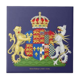 Escudo de armas Ana Bolena Azulejo Cuadrado Pequeño