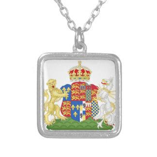 Escudo de armas Ana Bolena Collar Plateado