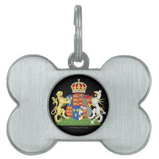 Escudo de armas Ana Bolena Placas De Nombre De Mascota