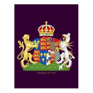 Escudo de armas Ana Bolena Postal