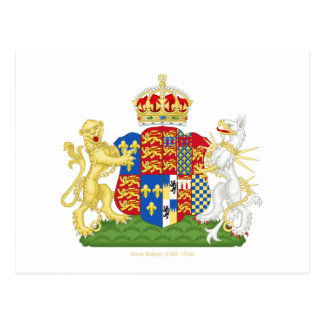 Escudo de armas Ana Bolena Postales