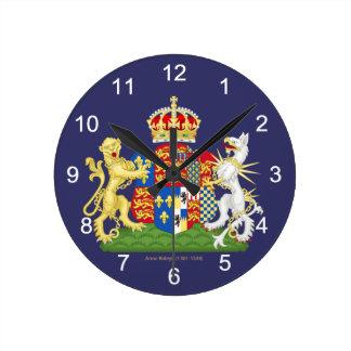 Escudo de armas Ana Bolena Reloj Redondo Mediano