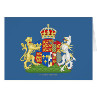 Escudo de armas Ana Bolena Tarjeta