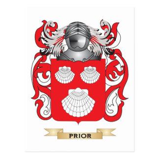 Escudo de armas anterior (escudo de la familia) tarjetas postales