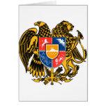 Escudo de armas armenio felicitacion