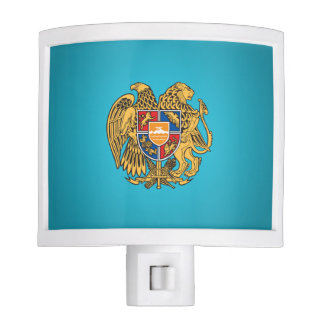 Escudo de armas armenio lámpara de noche