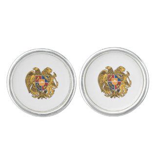 Escudo de armas armenio mancuernillas