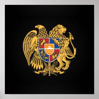Escudo de armas armenio póster