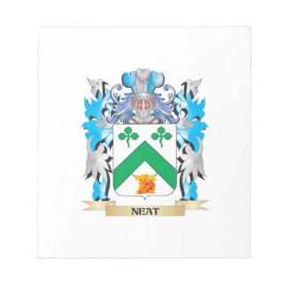 Escudo de armas aseado - escudo de la familia blocs de notas